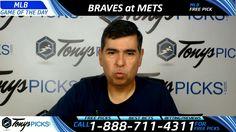 Atlanta Braves vs. New York Mets Free MLB Baseball Picks and Predictions...