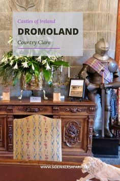 Travel Ireland and stay at Dromoland Castle near Limerick. Discover a   cool place to stay in Ireland. Walk Dromoland Castle grounds on a trip   to Ireland. #DromolandCastle #Ireland #TravelIreland #Limerick