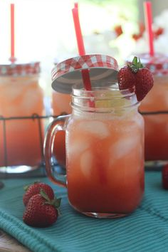 #paleomg #paleo Strawberry Vanilla Bean Sparkling Lemonade