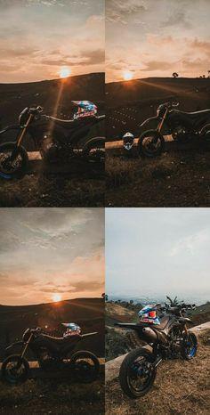 Motocross Love, Motocross Girls, Motorcross Bike, Aesthetic Pastel Wallpaper, Aesthetic Backgrounds, Aesthetic Wallpapers, Trail Motorcycle, Unicorn Eyes, Bike Couple