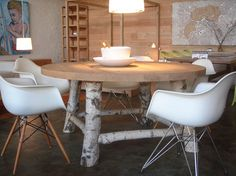 natural birch dining table