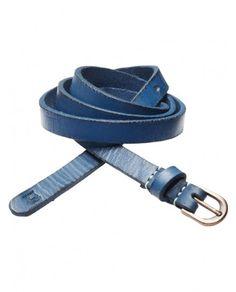 scotch & soda blue leather belt