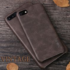 X-Level Vintage Leather Case For Apple iPhone 7 / 7 Plus Protective Back Cover Phone Capa Funda For Men & Female