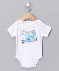 Take a look at this White 'Little Brother' Bodysuit - Infant by Mon Cheri Baby on #zulily today!