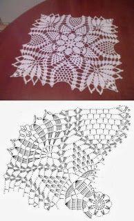 60 ideas crochet lace square pattern doilies for 2019 Crochet Doily Diagram, Crochet Doily Patterns, Crochet Mandala, Crochet Chart, Crochet Squares, Thread Crochet, Filet Crochet, Crochet Motif, Crochet Designs