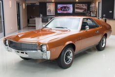 1969 AMC AMX VIN This AMX show car has had a complete body-off restoration! The entire drive train is believed to be numbers matching! Amc Javelin, American Motors, Gasoline Engine, Pony Car, Us Cars, Car In The World, Ford Mustang, Muscle Cars, Luxury Cars