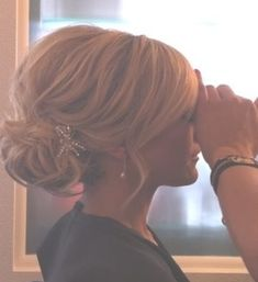 Get the look! Check out our gorgeous collection of sparkley combs and wedding hair accessories.  www.queenofpreen.co.uk