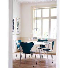 Superellips bord, vit laminat/aluminiumkant från Fritz Hansen – Köp online på Rum21.se