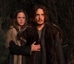 """Alexander Dreymon as Uhtred of Bebbanburg (with Emily Cox As Brida) in """"The Last Kingdom"""" Season 1 http://www.imdb.com/title/tt4179452 From http://images.spoilertv.com/The%20Last%20Kingdom/Season%201"""