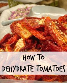 Dried tomatoes are not hard to make, they are easy to store, and reconstitute easily. Your preferences and your climate will help you decide whether you want to sun dry your tomatoes, use a dehydrator, or your oven.