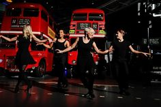 Q: What's more British than Busses? A: Waiting for them... 'Strictly' themed Dancing show at the London Transport Museum