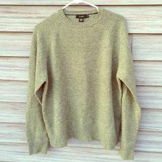 J. Crew green sweater 100% Lambs wool 100% LAMBS WOOL! Size large. Perfect condition. J. Crew Sweaters Crew & Scoop Necks