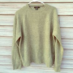 J. Crew green sweater 100% Lambs wool 100% LAMBS WOOL! Size large. Perfect condition. J. Crew Sweaters Crew & Scoop Necks