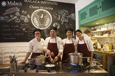 Spanish and cooking at Malaca Instituto. Students from USA
