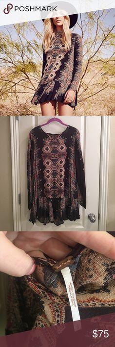 Free People tunic/mini wig deep V on back Free People tunic/mini wig deep V on back size large. Great condition. Worn once. I wore with skinny jeans, but would be cute as a mini dress. No holds or trades. ❤❤❤ Free People Dresses Mini