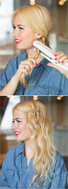 How to: Easy Boho Waves with Flat Iron on Folica Blog