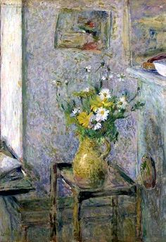 Vase en céramique et fleurs, Édouard Vuillard.