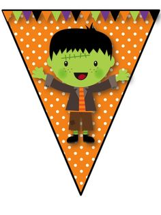 """Happy Halloween"" Pennant Banner perfect Halloween Decor for your classroom or home!"