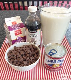 Crockpot Cocoa - I added a tablespoon or two of cocoa powder to make it extra chocolaty.