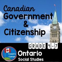"""Canadian Government and Citizenship, revised to include a """"Community Mapping Action Plan"""" unit to meet the 2013 Ontario Grade 5 Social Studies Curriculum expectations Ontario Curriculum, Social Studies Curriculum, Social Studies Activities, Teaching Social Studies, Citizenship Activities, Canadian Social Studies, Government Lessons, Ministry Of Education, Teacher Lesson Plans"""