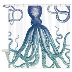 Octopus Shower Curtain on CafePress.com
