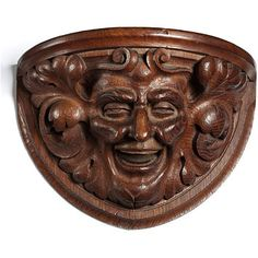 A carved-oak Green Man, 1910, J E Knox; the Green man symbolises rebirth and the cycle of growth. (Victoria & Albert Museum)