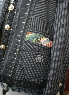 French punk jacket - maybe do something like this with sweatshirt construction?
