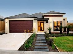 I want to make a stepping stone path straight to the front door and then lining with plants: front yard landscaping ideas australia - My New Gardening Plan