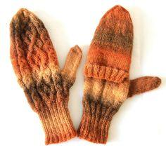 Glittens, Flip Down Cabrio Handschuhe - Orange - kann individuell konfektioniert werden