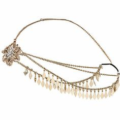 Gold tone embellished hair crown �8.00