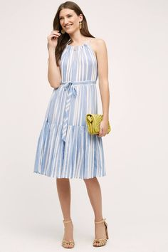 Daylily Stripe Dress - anthropologie.com