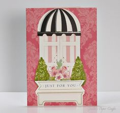 """Anna Griffin Window Ledge card kit """"Just For You"""" by Gaila's Paper Crafts."""