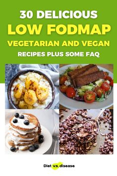 Following an elimination diet is hard. But doing so as a vegetarian or vegan is even harder. The good news is that you can definitely follow the low FODMAP diet if you don't eat animal products. Here's a round-up of 30 low FODMAP vegetarian and vegan recipes to help you plan your low FODMAP meals. #dietitian #Nutritionist #nutrition #health #diet #health