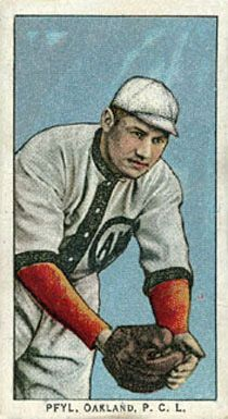 May 11, 1886 - October 18, 1945: Meinhard 'Monty' Pfyl: a first baseman in pro ball 1907- 1914, with the NY Giants in 1907 for 1 game - went 0 for 1