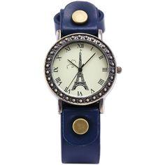 AMPM24 Blue Leather Vintage Bronze Case Eiffel Tower Lady Girl Fashion Dress Wrist Watch WAA473 AMPM24 http://www.amazon.com/dp/B00DAUAZ66/ref=cm_sw_r_pi_dp_DsRfvb1Y4PEPZ