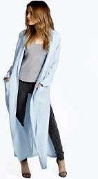 @boohoo #Split #Side #Duster  #Coat - #blue
