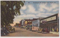 Vintage postcard: Washington Street, looking east, Athens, GA.