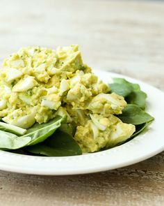 Healthy recipe for  Avocado Egg Salad Recipe no mayo!