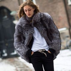 #coat #streetstyle #fur