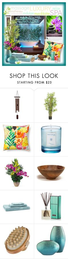 """""""Bliss"""" by ladychatterley ❤ liked on Polyvore featuring interior, interiors, interior design, home, home decor, interior decorating, Dot & Bo, Nearly Natural, Shay & Blue and Pure Fiber"""
