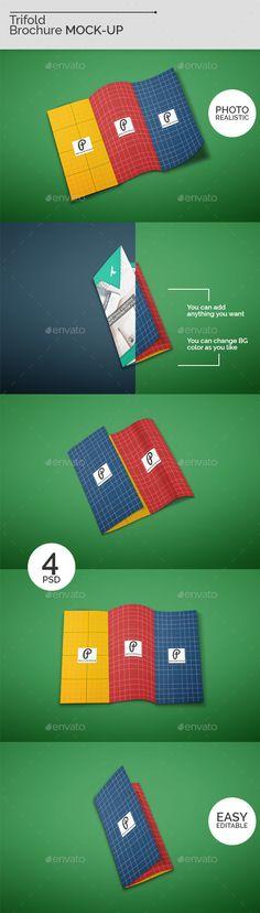 Trifold Brochure Mock-Ups V2
