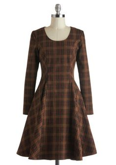 Rustic Chic Dress in Tartan, #ModCloth I really like this! It would work great for my size and figure, too.
