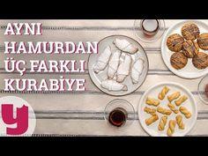 Misafirlerinize, sevdiklerinize ufak sürprizler yapmak istiyorsanız, bu tarif tam size göre! Tek hamur ile üç çeşit kurabiye hazırlıyoruz!