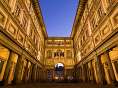 Florence: Uffizi Gallery. Botticelli's The Birth of Venus may symbolize true beauty inside the Uffizi, but the museum is exquisite on the outside as well, with its symmetrical columns and stately windows. We like to stroll the perimeter once the museum has closed, when Florentine couples and families come out to do the same.