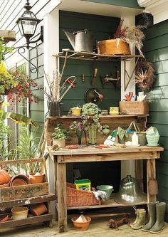 109 Best Outdoor Potting Areas Images On Pinterest