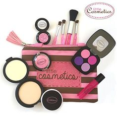 Kids Pretend Play Makeup Set Cosmetic Bag Toy for Girls Make up Toys Cosmetics for sale online Pretend Makeup For Toddlers, Makeup Kit For Kids, Kids Makeup, Little Girls Makeup, Teen Makeup, Makeup Ideas, Toys For Girls, Gifts For Girls, Girl Gifts
