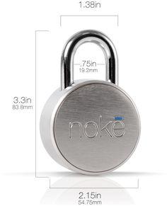 Nokē Padlock | Keyless Bluetooth Smart Lock | Smartphone Security