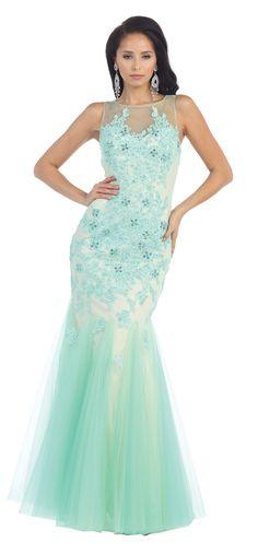 63a75bec2ec4 Long Mermaid Ball Gown Homecoming Prom Formal Dress