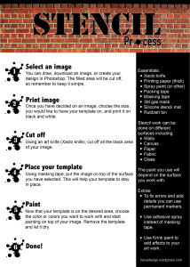 Infographic - Stencil process quick tips step by step  urban art - arte urbano - design - diseno