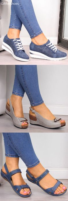 GiftHerShoes offers a wide selection of trendy fashion style women's shoes, clothing. Affordable prices on new shoes, tops, dresses, outerwear and more. Comfy Shoes, Cute Shoes, Comfortable Shoes, Me Too Shoes, Casual Shoes, Wedge Heel Sneakers, Wedge Shoes, Shoes Sandals, Heels